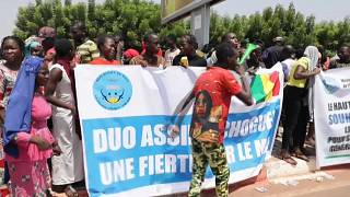 Malian Prime Minister welcomed by supporters in Bamako after speech at UN in New York