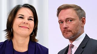 Annalena Baerbock of the Greens and Christian Lindner of the FDP