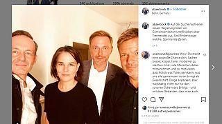 Selfie der Vorverhandlungen zwischen Grünen und FDP