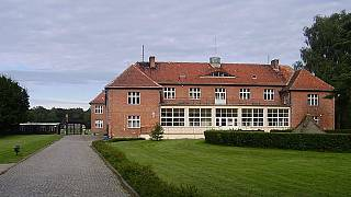 The administrative building at Stutthof concentration camp