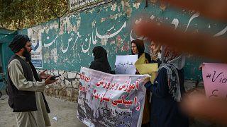 Des femmes afghanes manifestent pour le droit à l'éducation