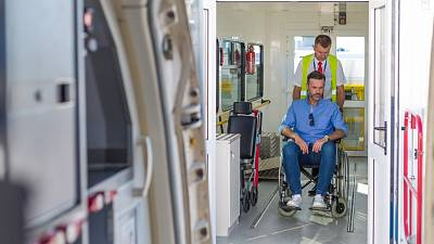 Personal wheelchairs could soon be used as seat on flights.