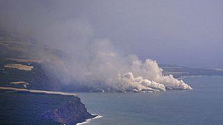 La Palma: 25 Hektar großes Lavadelta im Meer