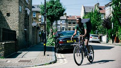 Wings, a new carbon neutral food delivery service.