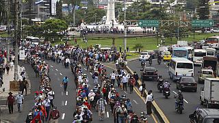 Protesta antibitcoin en El Salvador