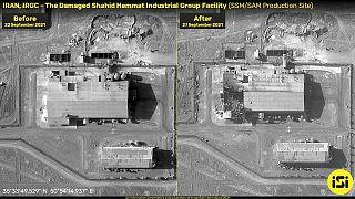 صور الأقمار الصناعية للمنشأة المزعومة لإنتاج الصواريخ الإيرانية في ضواحي طهران.