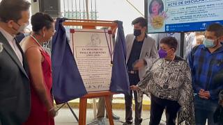 Acto en homenaje a Paola Buenrostro