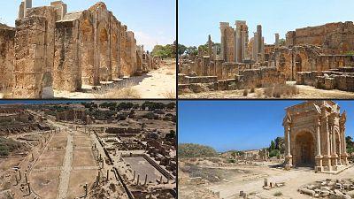 The ruins of Leptis Magna, Libya