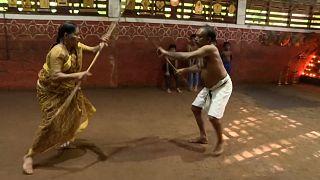 Indian great-grandmother teaches martial art