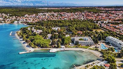 Overview of The Valley in Zadar, Croatia