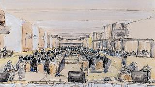La salle d'audience dédiée au procès des attentats du 13 novembre au sein du Palais de justice de Paris