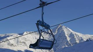 Chairlifts are stopped in the ski resort of Val d'Isere, France, to stop the spread of the COVID-19 pandemic, Dec. 13, 2020.