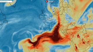 Die Schwefelwolke des Cumbre Vieja mit Kurs auf Zentraleuropa.