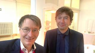 Karl Lauterbach und Christian Drosten auf einem Selfie