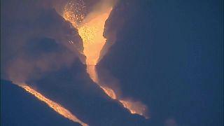 Erupción del volcán de Cumbre Vieja en la isla canaria de La Palma