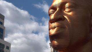 George Floyd gold statue