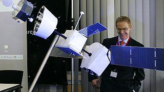 A BepiColombo modellje a Merkúr-misszió tervezésekor - Immenstaad, 2008