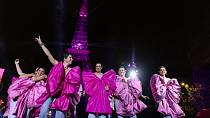 Eiffel Tower glows pink for breast cancer awareness