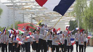 الوفد الفرنسي يزور جناح بلاده في معرض إكسبو 2020 المقام في مدينة دبي