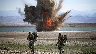 رزمایش ایران در نزدیکی مرز با آذربایجان