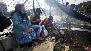 Prosigue la protesta de los indios emberá en Bogotá