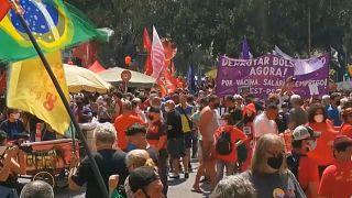 Gran manifestación contra Jair Bolsonaro en Brasil