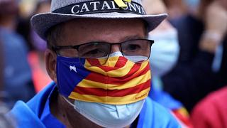 Catalan independence protesters gather in Barcelona