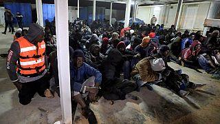 صورة من الارشيف - مهاجرون غير شرعيين - ليبيا