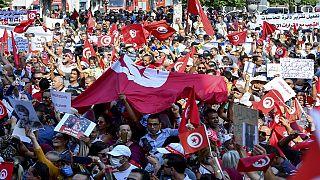 Tunisie : manifestation en soutien à Kais Saied à Tunis
