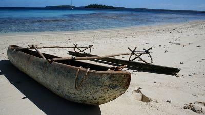 A traditional Tongan canoe