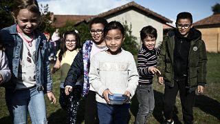 Dans une école de Labouheyre, dans le sud-ouest de la France où le masque n'est plus obligatoire