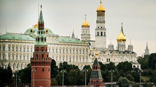 مبنى الكرملين في موسكو.
