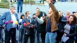 Zágrábban tüntetnek a kötelező védettségi igazolvány ellen