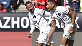 Mbappé und Neymar am Sonntag im Ligaspiel gegen Stade Rennes. PSG verlor 0:2