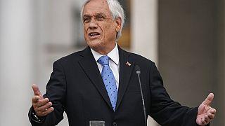 El presidente de Chile, Sebastián Piñera, durante la rueda de prensa en la que criticó la inclusión de su nombre en los papeles de Pandora