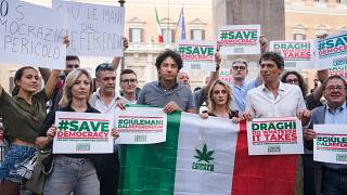 Demonstration in favour of a referendum on the legalisation of cannabis