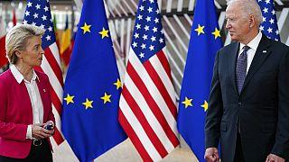 Συνάντηση φον ντερ Λάιεν - Μπάιντεν στις Βρυξέλλες στο περιθώριο της συνόδου ΗΠΑ-ΕΕ (Ιούνιος 2021)