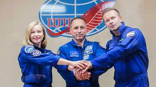 The crew aims to shoot the first movie in space
