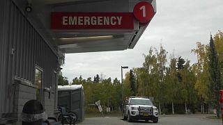 Sección de emergencia de un hospital en Alaska, 22/9/2021, Tok, Alaska