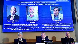 الإعلان عن جائزة نوبل للفيزياء، ستوكهولم 5 أكتوبر 2021