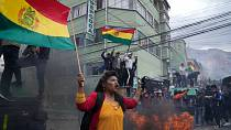 Clashes, tear gas at Bolivia coca farmers' protest