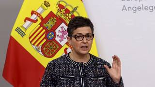 Arancha Gonzalez Laya speaks during a press conference in March.