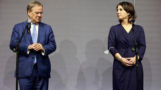 Pressekonferenz nach gemeinsamen Gesprächen zwischen Union und FDP (5.10.2021)