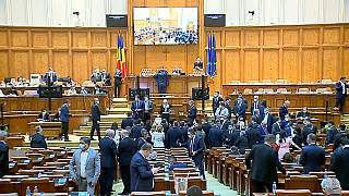 Le parlement roumain vote