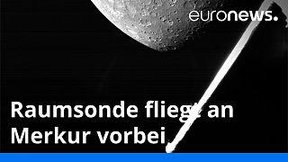 Seit vier Jahren unterwegs und jetzt ein erster Blick auf Merkur: Die Raumsonde BepiColombo ist an ihrem Bestimmungsort vorbeigeflogen.