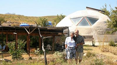 Laura Davies and Dave Buchanan built their Earthship over the course of seven years.