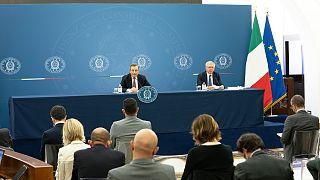 La conferenza stampa del Presidente del Consiglio Draghi con il Ministro Franco