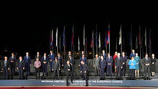 Photo de famille des dirigeants européens, au château de Brdo, en Slovénie, 5 octobre 2021
