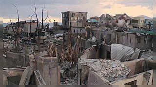 Zerstörung auf der Insel Guanaja