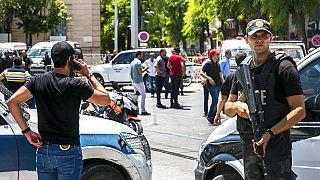 أفراد من قوات الأمن التونسية في العاصمة التونسية، الخميس 27 يونيو 2019.